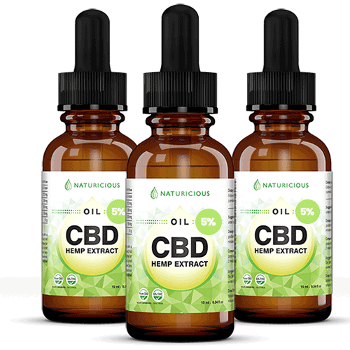 pack 3 cbd oil 5 percents naturicious