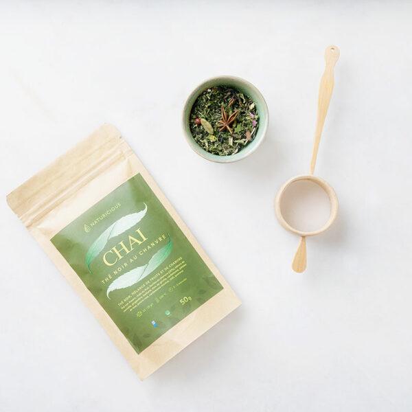 chá de asspream o chai cânhamo preto com cbd